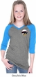 Dodge Scat Pack Pocket Print Girls Three Quarter Sleeve V-Neck Shirt