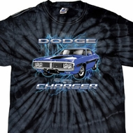 Dodge Shirt Blue Dodge Charger Spider Tie Dye Tee T-shirt
