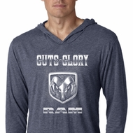 Dodge Shirt Guts and Glory Ram Logo Lightweight Hoodie Tee T-Shirt
