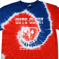 Dodge Shirt Guts and Glory Ram Logo Patriotic Tie Dye Tee T-shirt