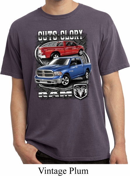 Dodge Shirt Guts And Glory Ram Trucks Pigment Dyed Tee T