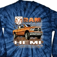 Dodge Shirt Ram Hemi Trucks Long Sleeve Tie Dye Tee T-shirt