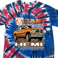 Dodge Shirt Ram Hemi Trucks Patriotic Tie Dye Tee T-shirt