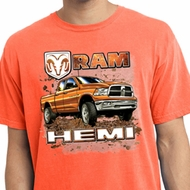 Dodge Shirt Ram Hemi Trucks Pigment Dyed Tee T-Shirt
