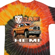 Dodge Shirt Ram Hemi Trucks Tie Dye Tee T-shirt