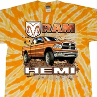 Dodge Shirt Ram Hemi Trucks Twist Tie Dye Tee T-shirt