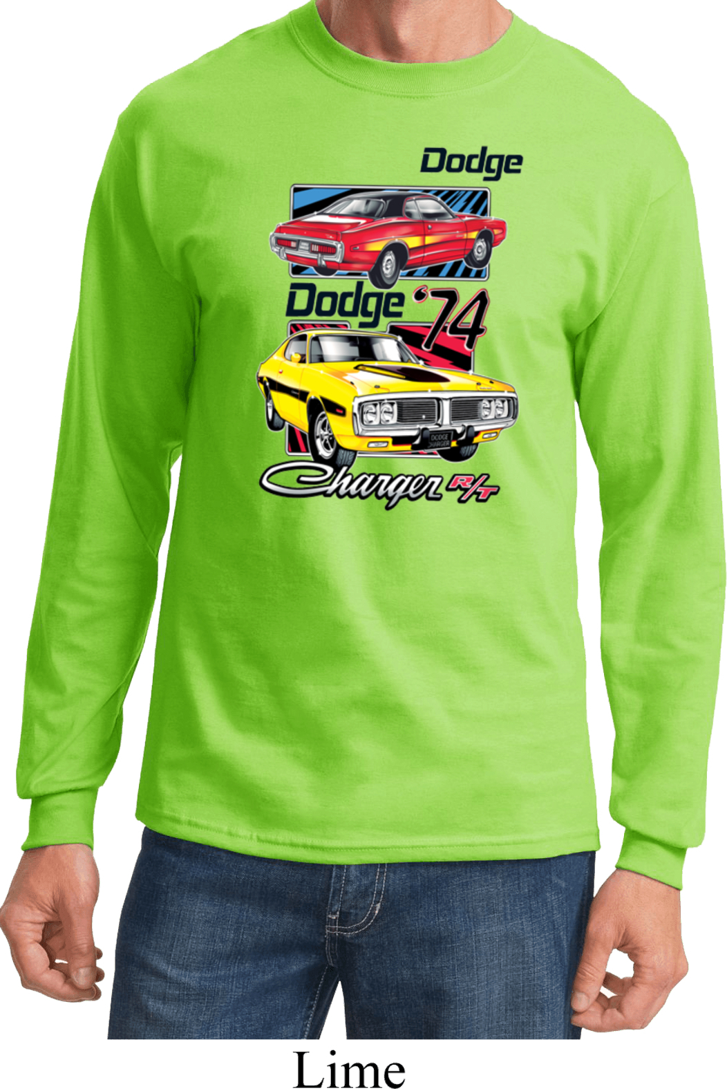 Dodge shirt vintage chargers long sleeve tee t shirt for Retro long sleeve t shirts