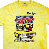 Dodge Shirt Vintage Chargers Spider Tie Dye Tee T-shirt