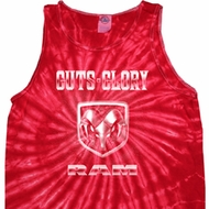 Dodge Tanktop Guts and Glory Ram Logo Tie Dye Tank Top