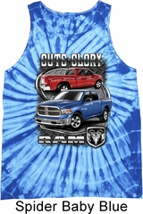 Dodge Tanktop Guts and Glory Ram Trucks Tie Dye Tank Top