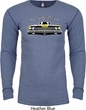 Dodge Yellow Plymouth Roadrunner Long Sleeve Thermal Shirt