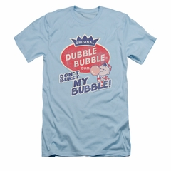 Double Bubble Shirt Slim Fit Don't Burst Light Blue T-Shirt