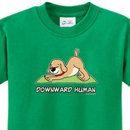 Downward Human Kids Yoga Shirts