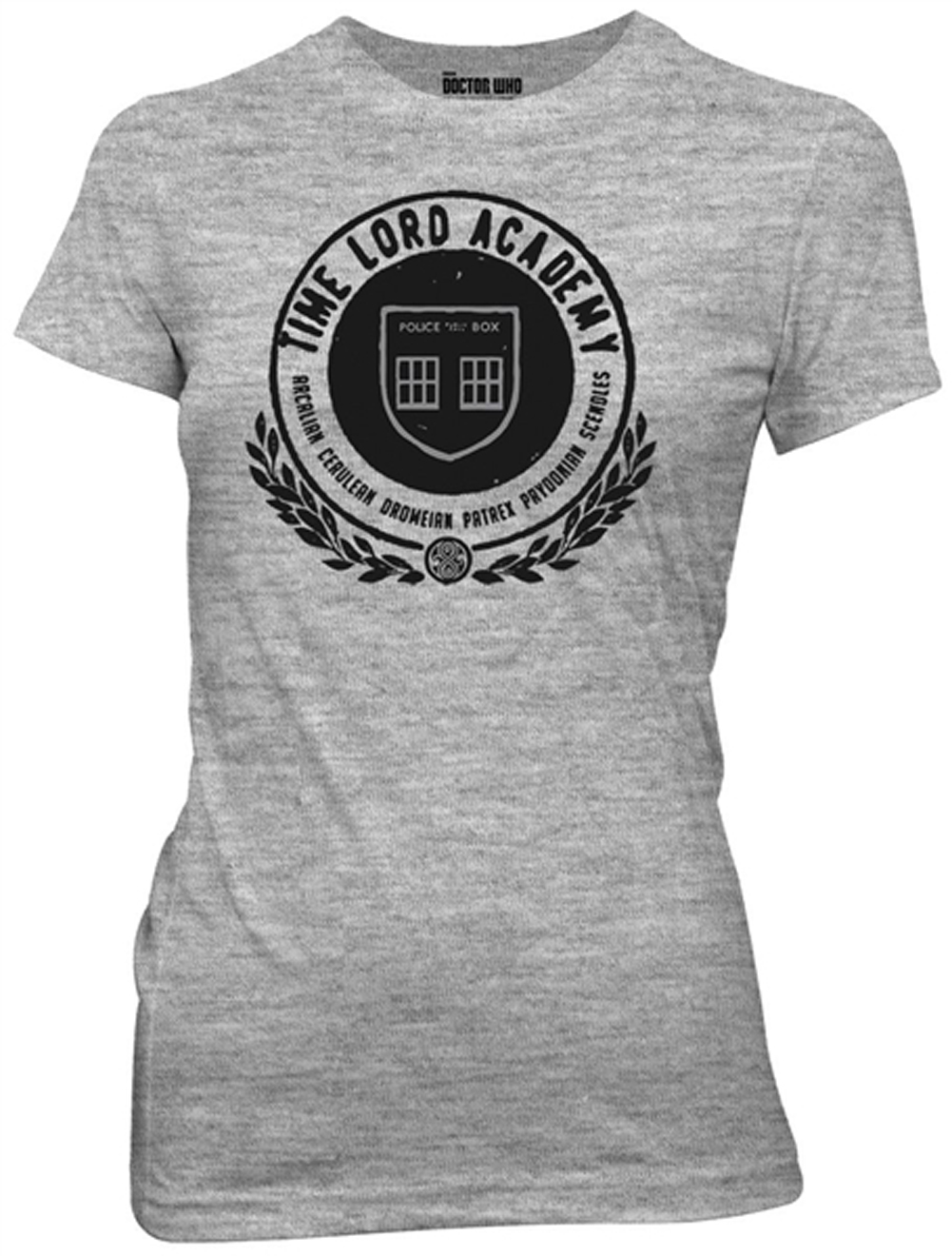 Dr Who Shirt Juniors Time Lord Academy Athletic Heather T
