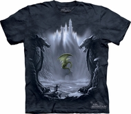 Dragon Shirt Tie Dye Lost Valley Castle T-shirt Adult Tee