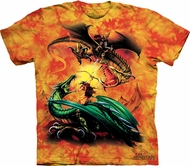 Dragon Warriors Shirt Tie Dye The Duel T-shirt Adult Tee
