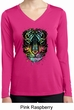 Dripping Neon Tiger Ladies Moisture Wicking Long Sleeve Shirt