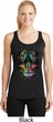Dripping Neon Tiger Ladies Moisture Wicking Racerback Tank Top