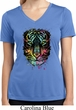 Dripping Neon Tiger Ladies Moisture Wicking V-neck Shirt