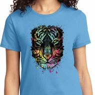 Dripping Neon Tiger Ladies Shirt