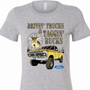 Driving and Tagging Bucks Ladies Ford Shirts