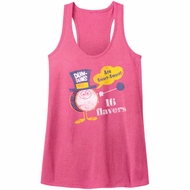 Dum Dums Juniors Tank Top 16 Flavors Heather Pink Racerback