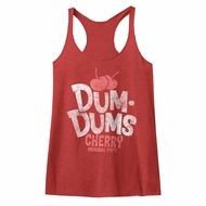 Dum Dums Juniors Tank Top Cherry Maroon Heather Racerback