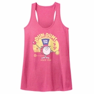 Dum Dums Juniors Tank Top Drum Man Ad Pink Heather Racerback