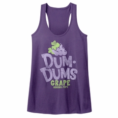 Dum Dums Juniors Tank Top Grape Purple Racerback