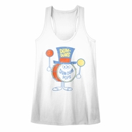 Dum Dums Juniors Tank Top Pops White Racerback