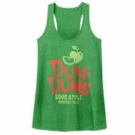 Dum Dums Juniors Tank Top Sour Apple Heather Green Racerback