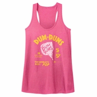 Dum Dums Juniors Tank Top The Worlds Best Pop Heather Pink Racerback