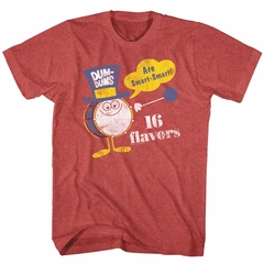 Dum Dums Shirt 16 Flavors Heather Red T-Shirt