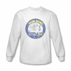 Dum Dums Shirt 5 For 5 Cents Long Sleeve White Tee T-Shirt