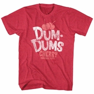 Dum Dums Shirt Cherry Red Heather T-Shirt