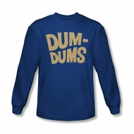 Dum Dums Shirt Distressed Logo Long Sleeve Royal Blue Tee T-Shirt