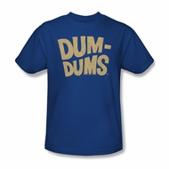 Dum Dums Shirt Distressed Logo Royal Blue T-Shirt