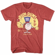 Dum Dums Shirt Drum Man Ad Red Heather T-Shirt