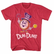 Dum Dums Shirt Drum Man Red Heather T-Shirt