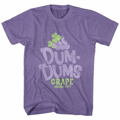Dum Dums Shirt Grape Heather Purple T-Shirt