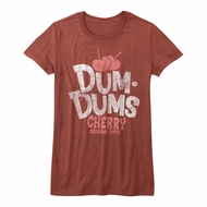 Dum Dums Shirt Juniors Cherry Maroon Heather T-Shirt