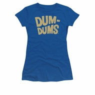 Dum Dums Shirt Juniors Distressed Logo Royal Blue T-Shirt