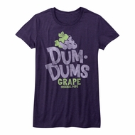 Dum Dums Shirt Juniors Grape Purple T-Shirt