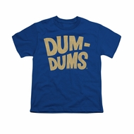 Dum Dums Shirt Kids Distressed Logo Royal Blue T-Shirt