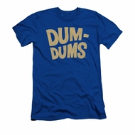 Dum Dums Shirt Slim Fit Distressed Logo Royal Blue T-Shirt