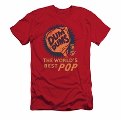 Dum Dums Shirt Slim Fit The Best Pop For 5 Cents Red T-Shirt