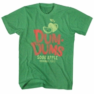 Dum Dums Shirt Sour Apple Heather Green T-Shirt