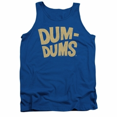 Dum Dums Shirt Tank Top Distressed Logo Royal Blue Tanktop