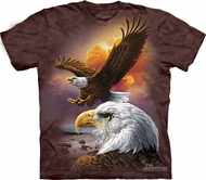 Eagle Shirt Bird Cloud T-shirt Tie Dye Adult Tee