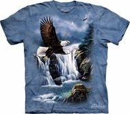 Eagle Shirt Tie Dye T-shirt Birds Majestic Flight Adult Tee